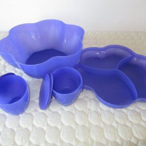 Tupperware Kitchen - Tupperware Chip n Dip Blue Set